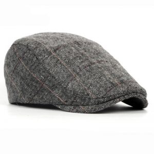 Winter Men Cap Hats Striped Beret Cap