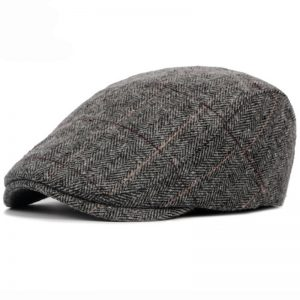 Winter Men Cap Hats Striped Beret Cap