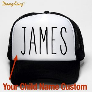 Custom Trucker Hat Printed Name Baseball Cap