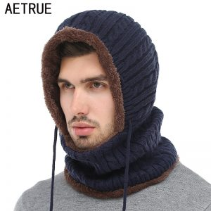 Men Scarf Skullies Beanies Winter Hats