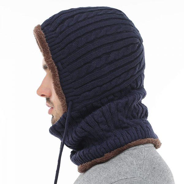 Men Scarf Skullies Beanies Winter Hats