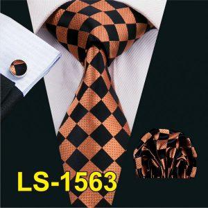 100% Silk Classic Ties Mens Tie Black Paisley