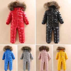 Russian Winter Snowsuit Boy Baby Jacket