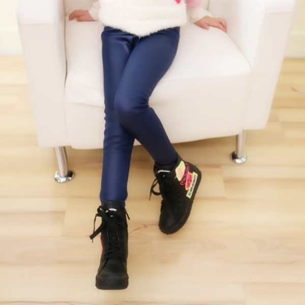 Winter Girls Leggings Faux Leather PU Pants