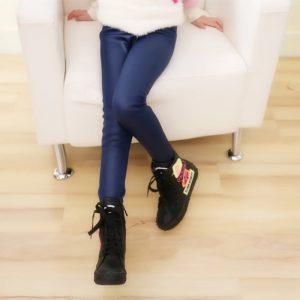 Winter Girls Leggings Faux Leather PU Pants