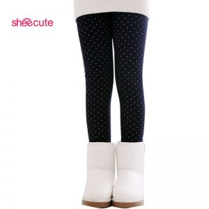 Warm Pant Girls Kids Trousers Print Legging