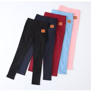 Casual Girls Long Trousers Children's Pencil Pants
