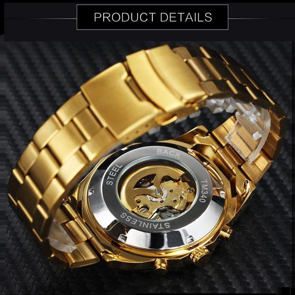 Winner Watch Men Skeleton Automatic Mechanical Watch