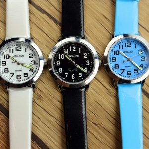 Children Leather Watch Luminous Quartz Watches