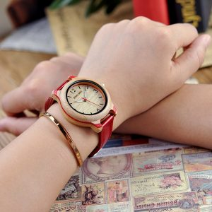 Lovers Bamboo Watches Analog Quartz Wristwatches