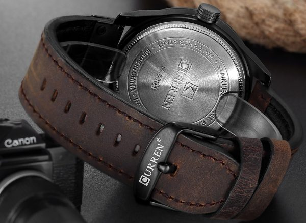 Military Sports Watches Casual Leather Wrist Watch