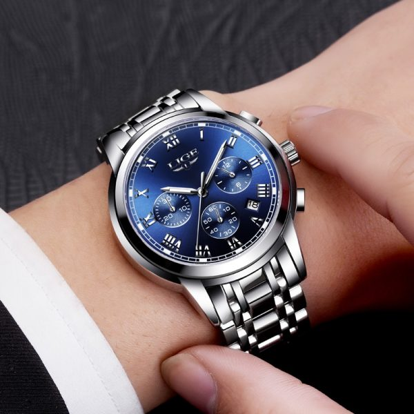 Chronograph Men Sports Watches Full Steel Quartz