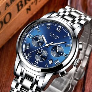 Chronograph Men Sports Watches Full Steel Quartz
