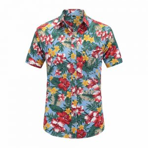 Hawaiian Shirts Cotton Casual Floral Shirt