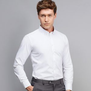 Casual Slim Fit Shirts Button Down Dress Shirt