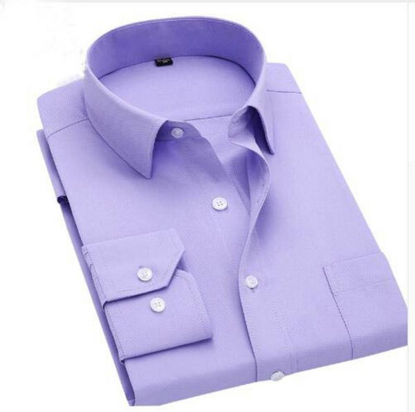 Long Sleeve Shirts Slim Fit Men Dress Shirt