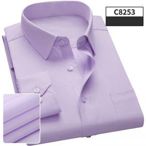 Men Dress Shirt Long Sleeve Casual Man Shirts