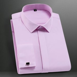 French Cufflinks Shirt Non-iron Dress Shirts