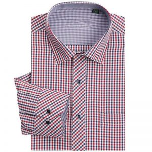 Men Classic Plaid Shirt Long Sleeve Dress Shirts