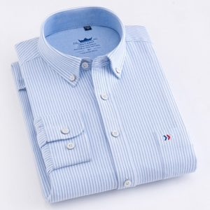 100% Cotton Shirt Oxford Plaid Striped Shirts