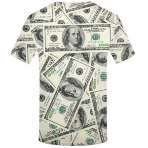 Dollar T Shirt Men Money Tshirts Gothic 3d T-shirt