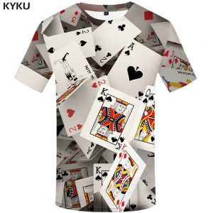 Poker T shirt Playing Cards Las Vegas Tshirt