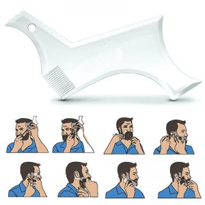 Men Beard Shaping Styling Template Combs Beauty Tool