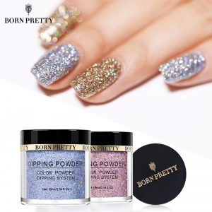 Holographic Dip Nail Powders Glitter Decoration