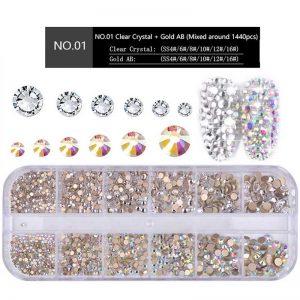 Glass Nail Rhinestones 3D Charm Gems DIY Manicure
