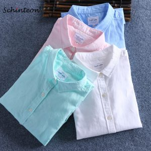 Summer Cotton Linen Shirts Comfortable Undershirt