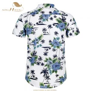 Cotton Hawaiian Shirt Floral Print Summer Shirts