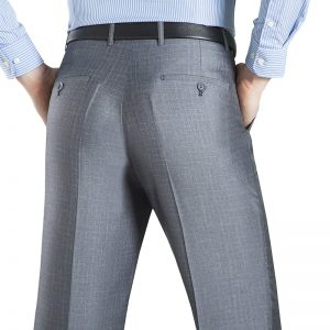 Summer Thin Suit Pants Baggy Office Trousers