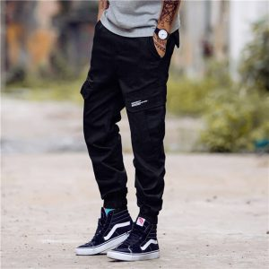 Fashion Streetwear Men Jeans Jogger Pants