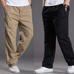 Summer Casual Pants Men Cargo Pant Loose Trousers