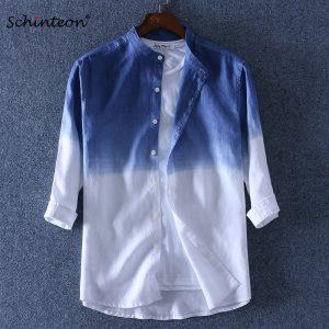 100% Linen Shirt Three Quarter SleeveShirts