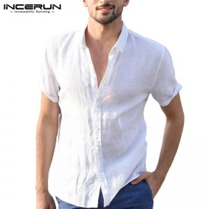 Elegant Male Tee Tops Casual Shirts Men Social Shirt