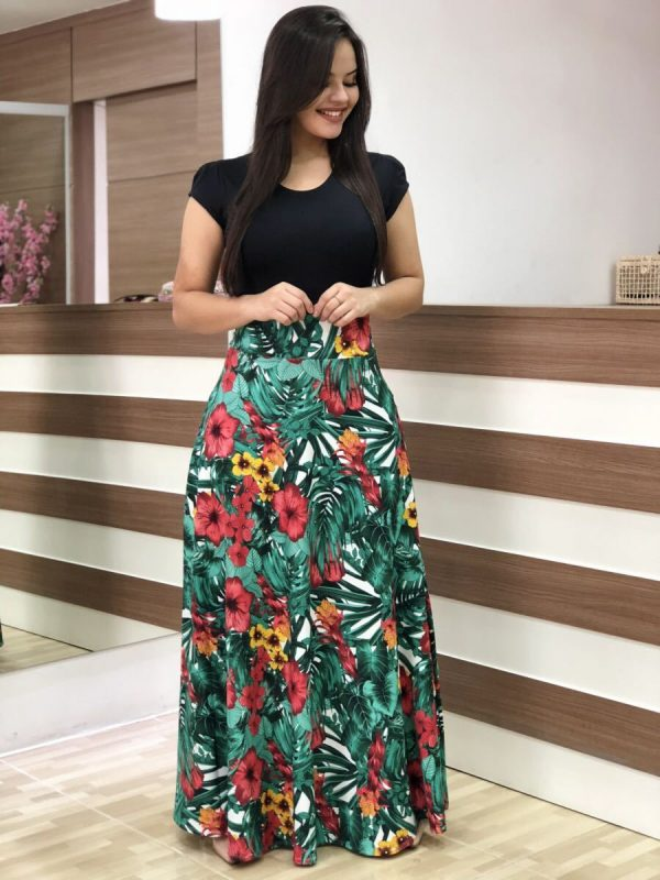 Women Dress Floral Printed Dresses Long Maxi Dress
