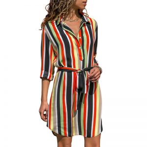 Long Sleeve Shirt Chiffon Boho Beach Dresses