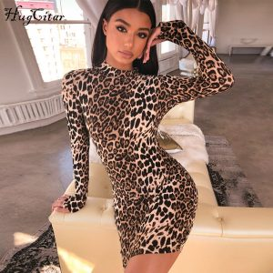 Leopard Print Sexy Dress Christmas Party Dresses