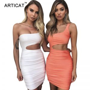 Sexy Bodycon Bandage Dress Hollow Out Party Dresses