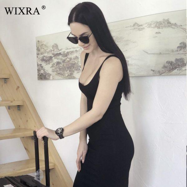 Basic Vest Dress Women Split Dress Party Dresses