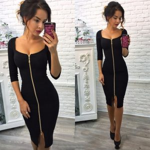 Sexy Club Dress Low Cut Bodycon Dress Party Dresses