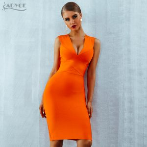 Summer Bandage Dresses Bodycon Celebrity Party Dress