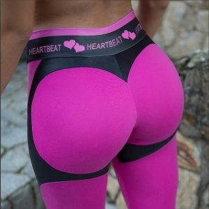 Fitness Legging Women Heartbeat Print Leggings