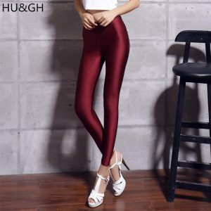 Fluorescent Leggings Women Shiny Glossy Legging