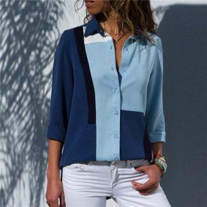 Women Blouses Office Shirt Chiffon Blouse Tops