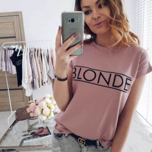 Fashion Basic Tee Shirt Summer Casual Tops