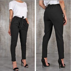 Chiffon Thin Pants High Waist Pants Pencil Pants