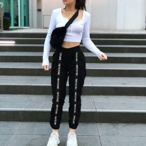 Harem Pants Trousers Women Loose Jogger
