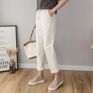 Cotton Linen Pants Summer Casual Trousers
